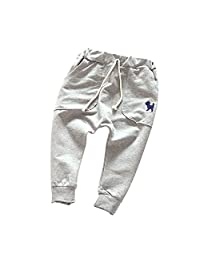 Weixinbuy Unisex Toddler Kids Cotton Harem Pants Fall Casual Trousers