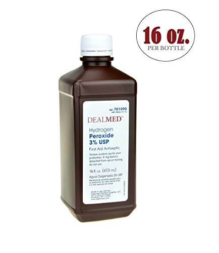 Dealmed Hydrogen Peroxide 3% USP, First Aid Antiseptic, 16 fl. oz. ()