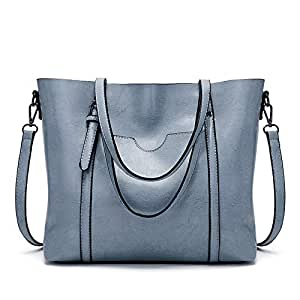 Rajendram Womens Shoulder Bag,Women Large Retro Handbag,Synthetic Leather Shopping Crossbody Tote Satchel for Work,School,Going Out,Shopping,Travel(Size:Length:32cm,Width:12cm,Height:27cm)