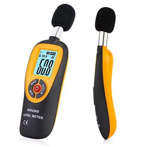 URPRO Decibel Meter, Digital Sound Level Meter 30-130 dB Audio Noise Measure Device Dual Ranges HT-90A (Radio Shack Sound Meter)