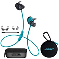 Bose SoundSport Wireless Headphones Aqua - Bundle With Bose Charging Case for SoundSport Wireless Headphones