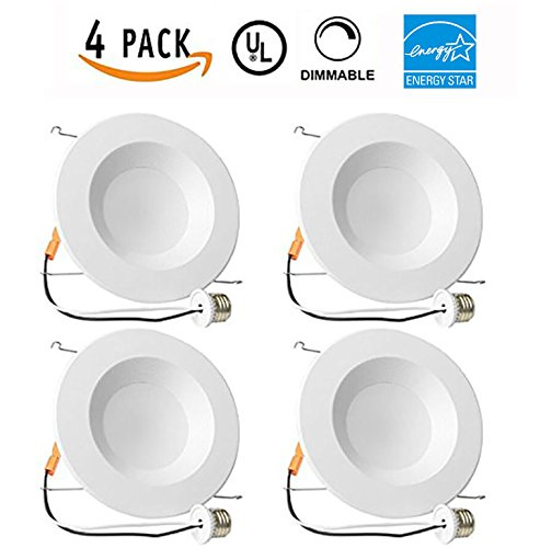 Indicating Light (4 PACK - 13W 5/6inch Dimmable LED Retrofit Recessed Lighting Fixture (=75W) 5000K Daylight White Energy Star, UL, LED Ceiling Light - 965 Lumens Recessed LED)