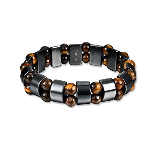 Healthcare Bracelet, Unisex Stylish Weight Loss Magnetic Hematite Stone Slimming Healthy Bangle Jewelry