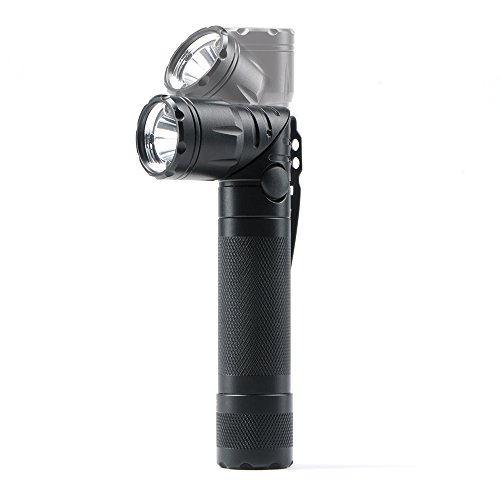 Guard Dog Security Reflex Rechargeable Tactical Flashlight - Swivel Bezel Hands-Free 600 Lumen LED - Magnetic Tail Cap, Battery INCLUDED