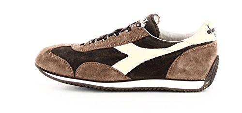 Diadora - Zapatillas de ante para hombre marrón coffee white