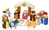 Kurt Adler 10.5-Inch Hand-Carved Childs 1st Nativity Set
