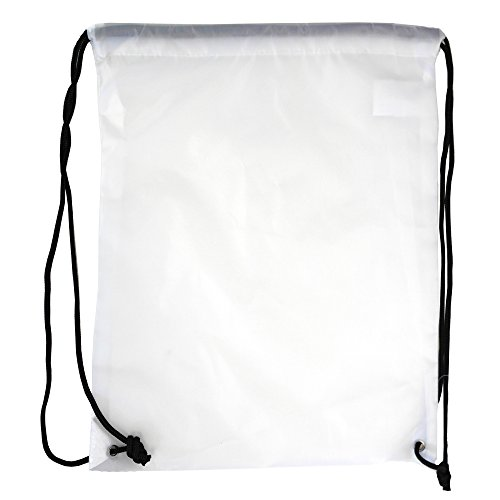 (5 Pack 210D POLYESTER Drawstring Backpack, Gym Sports, Outdoor Backpack, Camping and Hiking White Bags (5 Pack, White))