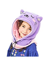 TRIWONDER Kids Balaclava Face Mask Fleece Ski Mask Neck Warmer Nose Warmer Face Cover Winter Animal Hood Hat for Boys Girls