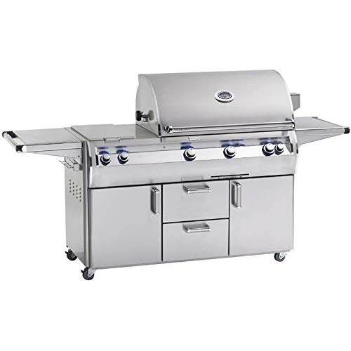 Fire Magic Echelon Diamond E790s A Series Propane Gas Bbq Grill With One Infrared Burner And Double Side Burner On Cart
