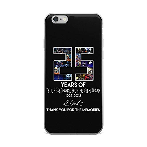 (iPhone 6 Plus/6s Plus Pure Anti Shock Clear Case 26 Year of The Nightmare Before Christmas 1993-2018 Thank You for The)