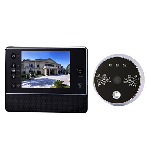TFT LCD Door Doorbell Peephole Peep Hole Viewer Camera Night Vision 3.5 Inches - 7