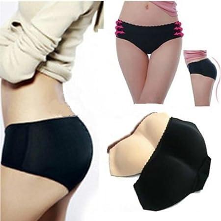 Sexy Bragas Braguitas Sin Costura Relleno De Culo Para Mujer Sexy Padded Panty(Negro S): Amazon.es: Hogar