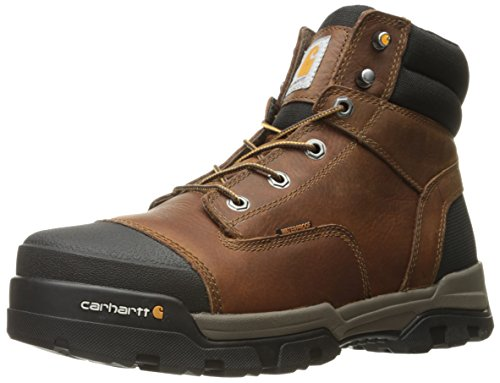 "Carhartt Men's 6"" Energy Brown Waterproof Soft Toe CME6055 Industrial Boot, Peanut Oil Tan Leather, 8 M US"