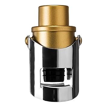 Sektflaschenverschluss Stahl Pump Saveur et Dé gustation ID KDO pierre-cedric Gold CMP
