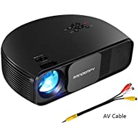 RANDEMFY 1080P HD Projector LED Home Movie 3500Luminous Efficiency LCD Portable Projector for Office Home Cinema Theater Movies Entertainment Laptop Games Party Support USB HDMI VGA AV Amazon Fire TV