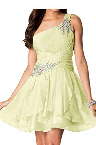 Missdressy - Vestido - trapecio - para mujer amarillo claro