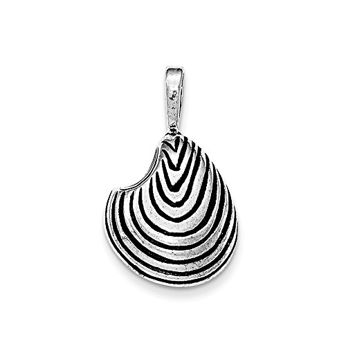 - Jewelry Stores Network Sterling Silver Antiqued Arch Shell Chain Slide Pendant