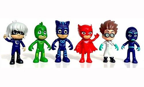 Masks Action Figure Characters Catboy Owlette Gekko Cloak Toys Doll ()