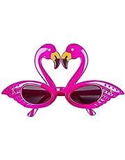 Boland 02579 Flamingo Partybril, eenheidsmaat voor volwassenen, kunststof, dieren, plezierbril, zonder sterkte, zonnebril, badknop party, themafeest, carnaval