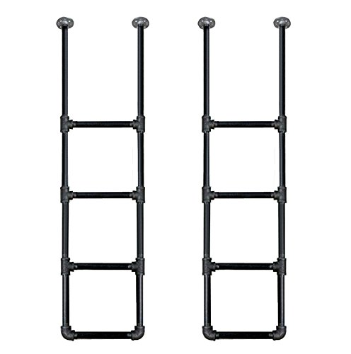 Industrial Retro Wall Mount iron Pipe Shelf Hung Bracket DIY Storage Bookshelf Bookshelves(2pcs)