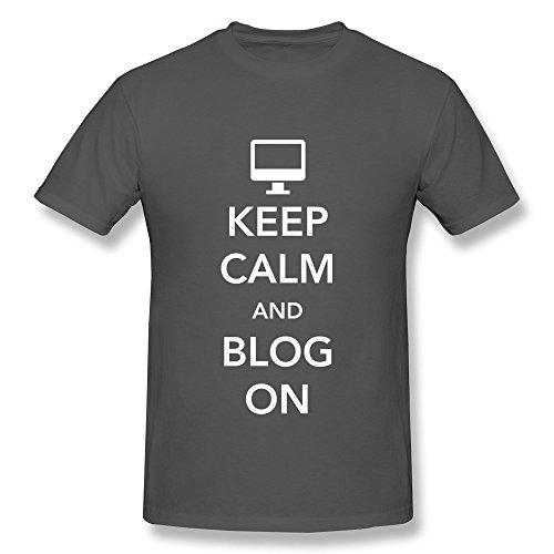 JSFAD Men's Keep Calm And Blog On T-shirt - Portland Blogs Fashion