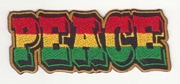 La paz rastafari Rasta León de judá etíope Reggae bandera de ...