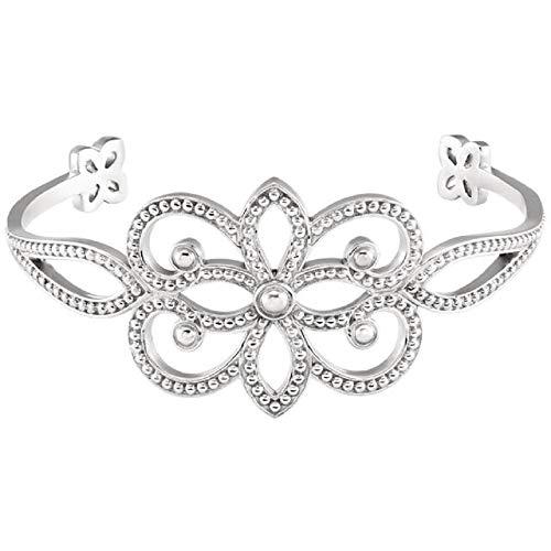 Eliana and Eli Sterling Silver Granulated Cuff Bracelet