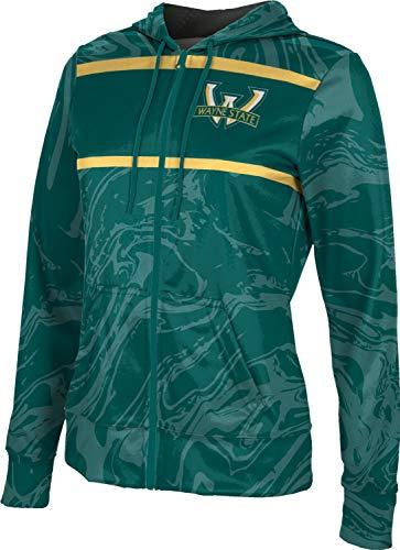 ProSphere Wayne State University Girls' Zipper Hoodie, School Spirit Sweatshirt (Ripple) FD04 Green and Gold