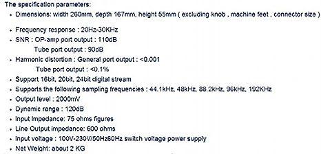GOWE USB TE7022L coaxial óptico DAC/salida de audio digital tubo GE5670 versión estándar color: plata TE7022L USB: Amazon.es: Bricolaje y herramientas