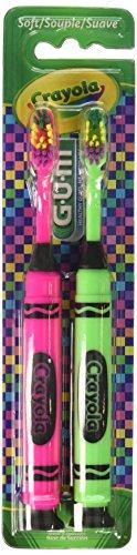 GUM Crayola Children Toothbrush, Soft, 2-Pack