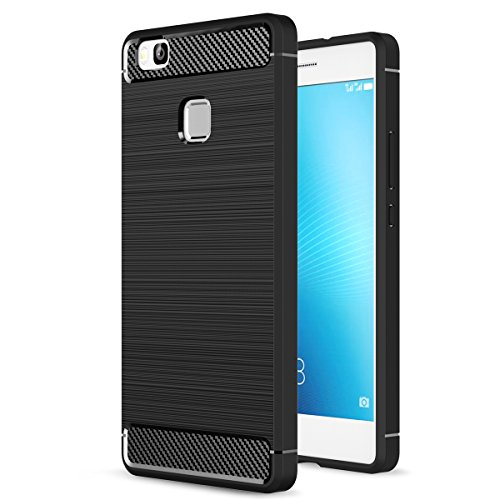 Huawei P9 Lite Case, Landee Soft TPU Shock Absorption and Carbon Fiber Design Silicone Case for Huawei P9 Lite (5.2