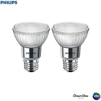 Philips 471243 LED Classic Glass Dimmable PAR20 40-Degree Spot Light Bulb with Warm Glow Effect 500-Lumen, 2200-2700-Kelvin, 7 (50-Watt Equivalent), ...