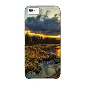 AbbyRoseBabiak Iphone 5c Well-designed Hard Cases Covers Sunset On The Marsh Protector