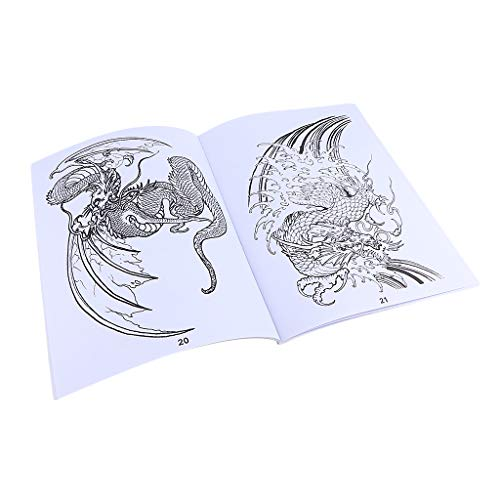 B Blesiya Traditional Dragon Tattoo Flash Design Photo Sketch Book For Body (Dragon Tattoos Art)