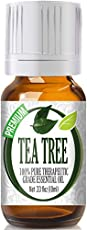 100% Pure Therapeutic Grade Tea Tree 10ml Essential Oil   Botanical Name: Melaleuca alternifolia   Comes in 10ml amber glass essential oil bottle. European Dropper Cap included   Tea Tree Essential Oil has a warm spicy aroma with camphoraceous notes....
