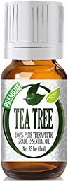 Tea Tree 100% Pure, Best Therapeutic Grade Essential Oil - 10ml