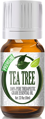 Tea Tree Essential Oil 100% Pure Therapeutic Grade Tea Tree Oil for Diffuser and Topical - Natural Antifungal Antibacterial Benefits Face Skin Hair Nails Heal Acne Dandruff Cuts Bites Cleaner 10ml