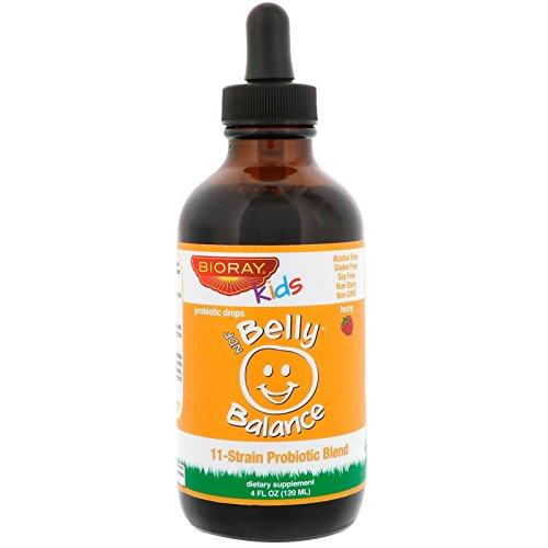 Bioray Inc Kids NDF Belly Balance 11-Strain Probiotic Blend Berry Flavor 4 fl oz 120ml by BIORAY