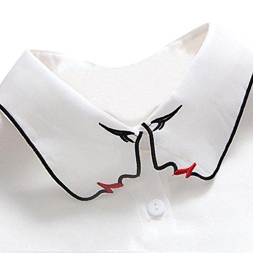 Hemlock Removable Bow Ties, Women's Collar Ties Sweater Bow Ties Choker Lapel Shirt Collar Ties (D) ()