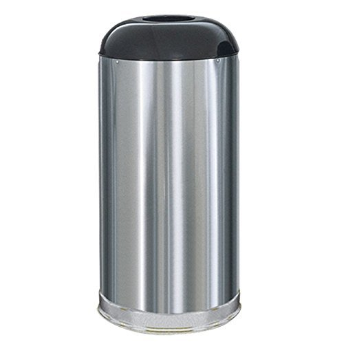 Rubbermaid Commercial European and Metallic Drop-In Dome Top Receptacle, Round, 15 Gallons, Satin Stainless (R32SSSGL) by Rubbermaid Commercial Products