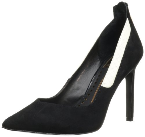 Dolce Vita Women's Karine Dress Pump,Black Suede,9 M US