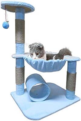 Littlefun - Rascador para Gatos, Juguete Interactivo, sisal de Felpa, rascador y Hamaca: Amazon.es: Productos para mascotas