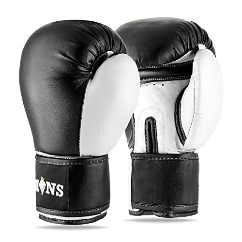 Lions Boxing Gloves MMA Punch Bag Training Mitts 6oz, 8oz, 10oz, 14oz,...