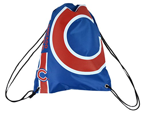 Forever Collectibles Official Major League Baseball Fan Shop Authentic Drawstring MLB Back Sack for Gym Tailgating or School (Chicago Cubs)