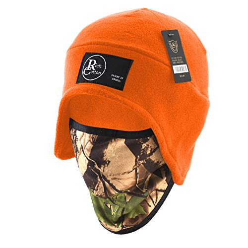 - Rich Cotton Fleece Beanie (Fleece Mask Orange)