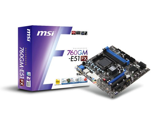 MSI Computer Corp. AMD 760G Micro ATX DDR3 1333 AM3+ Motherboards 760GM-E51 - Adapter Socket Amd