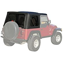 Rampage 99335 Soft Top, OEM Replacement Full Steel Doors  1997-2006 Jeep Wrangler, Black Diamond w/ Tint Windows