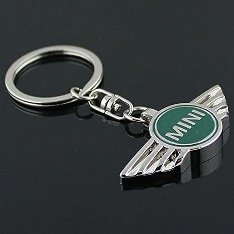 Amazon.com: Llavero 3D de metal con logo Mini Cooper, Verde ...