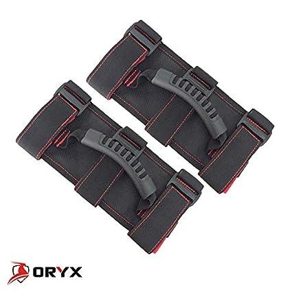Oryx Auto Roll Bar Grab Handles 2 Pack Red for Jeep Wrangler CJ YJ TJ LJ JK JL Premium Quality Roll Bar Accessories