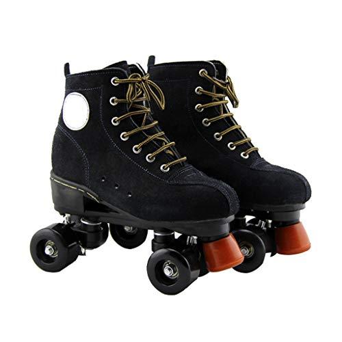 違う敷居製油所LIUXUEPING スケート、 ローラースケート、 ダブル列プーリーシューズ 快適な通気性 スケート 初心者 スケート